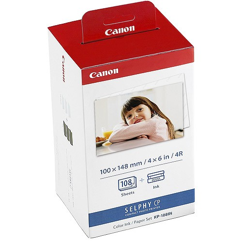 Canon Selphy CP KP-108IN - Color Ink / Paper Set