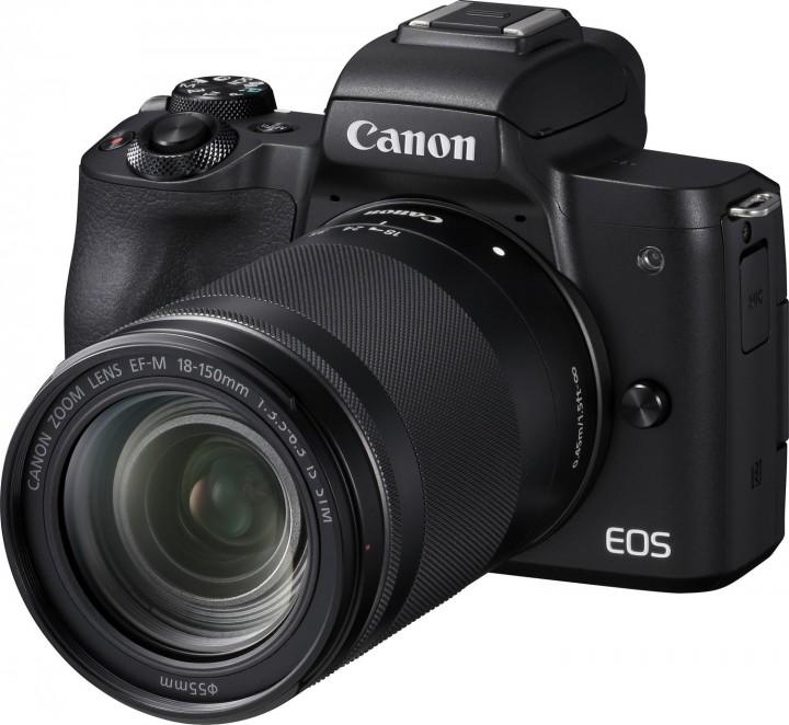 Canon EOS M50 + EF-M 18-150mm F3.5-6.3 IS STM Kit - Schwarz