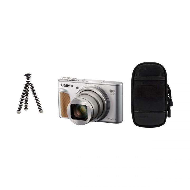 Canon PowerShot SX740 HS Travel Kit - Silber