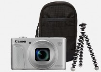 Canon PowerShot SX730 HS Travel Kit - Silber