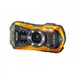 Ricoh WG-50 Kit orange, Kompaktkamera inkl. Tasche und Floating Strap