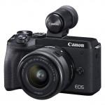 Canon EOS M6 II 15-45mm EVF-DC2 Sucher Kit - Schwarz