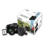 Panasonic LUMIX FZ83 Ringfoto Kit mit Tasche und 16GB Speicherkarte - Schwarz