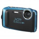 Fujifilm Finepix XP130 inkl. Schwimmgurt, 16GB SD-Karte und Reinigungstuch - Skyblue