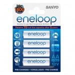 Sanyo eneloop Mignon Akku-Batterien AA 4er-Pack