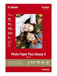 Canon PP-201 Canon Fotoglanzpapier Plus II 20 Blatt, A3 275g/m²