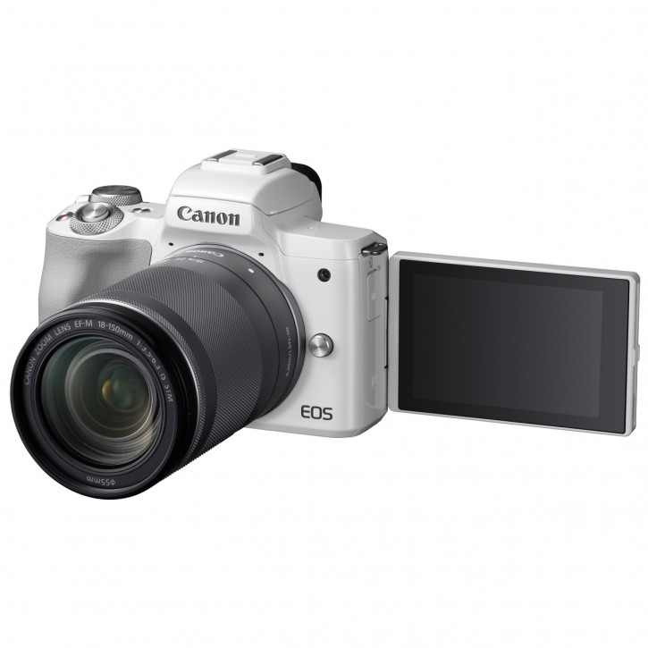 Canon EOS M50 + EF-M 18-150mm F3.5-6.3 IS STM Kit - Weiß