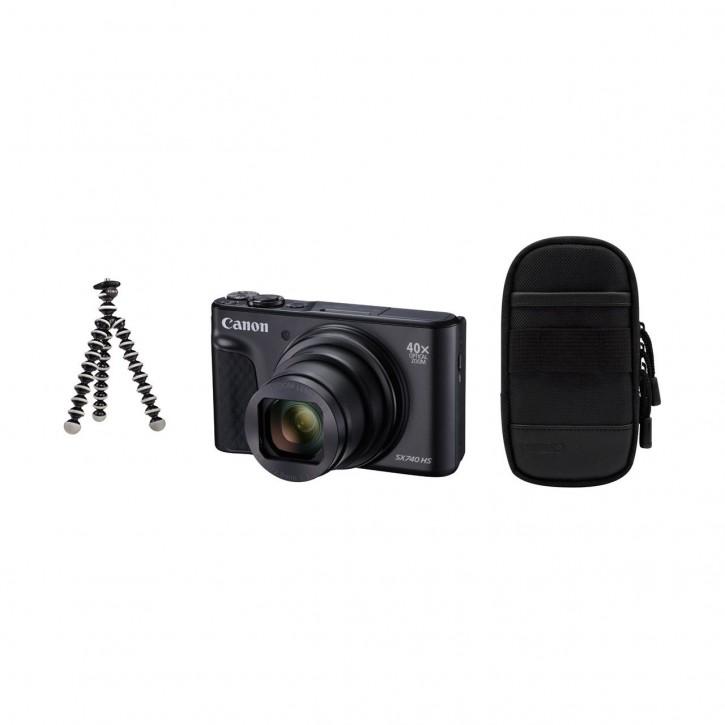 Canon PowerShot SX740 HS Travel Kit - Schwarz