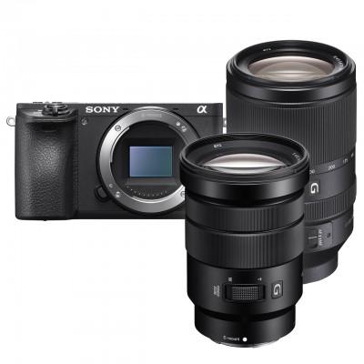 Sony alpha 6500 + 18-105mm F4 + 70-300mm F4.5-5.6 - Schwarz