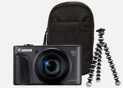 Canon PowerShot SX730 HS Travel Kit - Schwarz