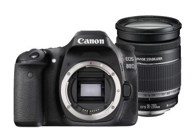 Canon EOS 80D 18-200mm IS Kit - Schwarz