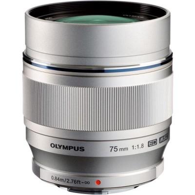 Olympus M.ZUIKO DIGITAL ED 75mm F1,8 - Silber - B-Ware