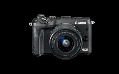 Canon EOS M6 EF-M 15-45mm IS STM Kit - Schwarz