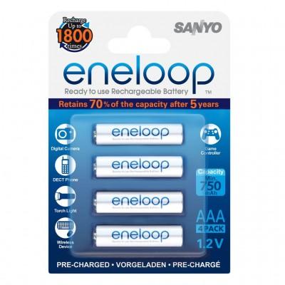 Sanyo eneloop Mignon Akku-Batterien AAA 4er-Pack