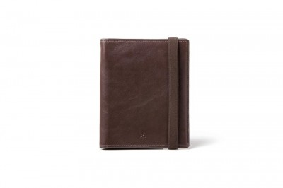 Barber Shop Fringe Passport Holder - dunkelbraun