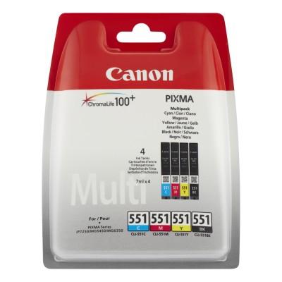 Canon CLI-551 - BK/C/M/Y Tinte Multipack