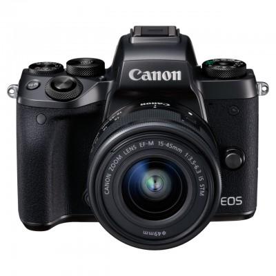 Canon EOS M5 EF-M 15-45mm Kit - Schwarz