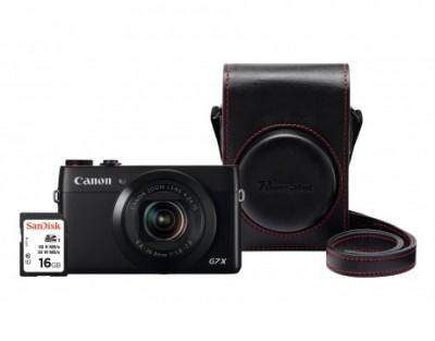 Canon PowerShot G7 X Premium Kit - Schwarz