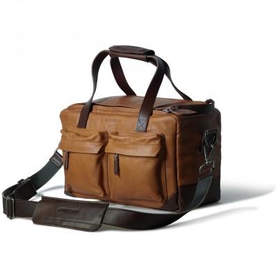 COMPAGNON 304 The Little Weekender - Camera Bag (Light Brown/Dark Brown)
