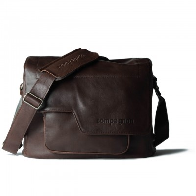 COMPAGNON 110 The Medium Messenger - Camera Bag (Dark Brown, Leather)