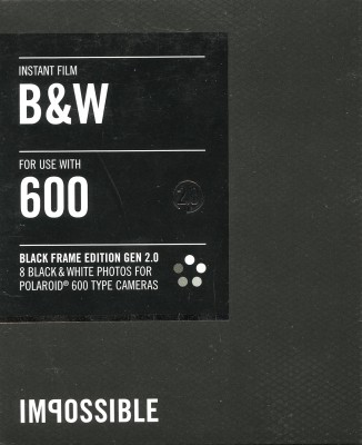 Impossible Instant Film B&W 600 - Black Frame Edition Gen 2.0