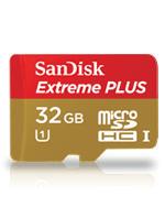 SanDisk 32GB microSDHC Extreme Plus UHS-I mit 80MB/s