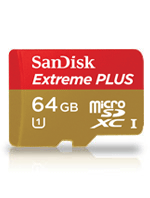 SanDisk 64GB Extreme Plus micro SDXC UHS-I inkl. Adapter